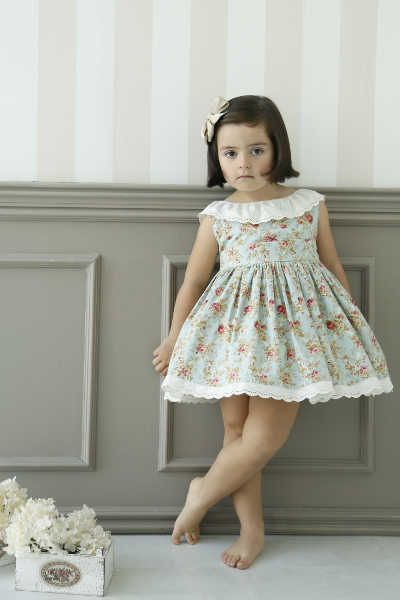 Delantero patrón Julie Dress para niña