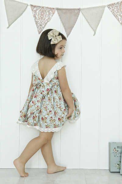 Espalda vestido de niña Julie Dress Patrón